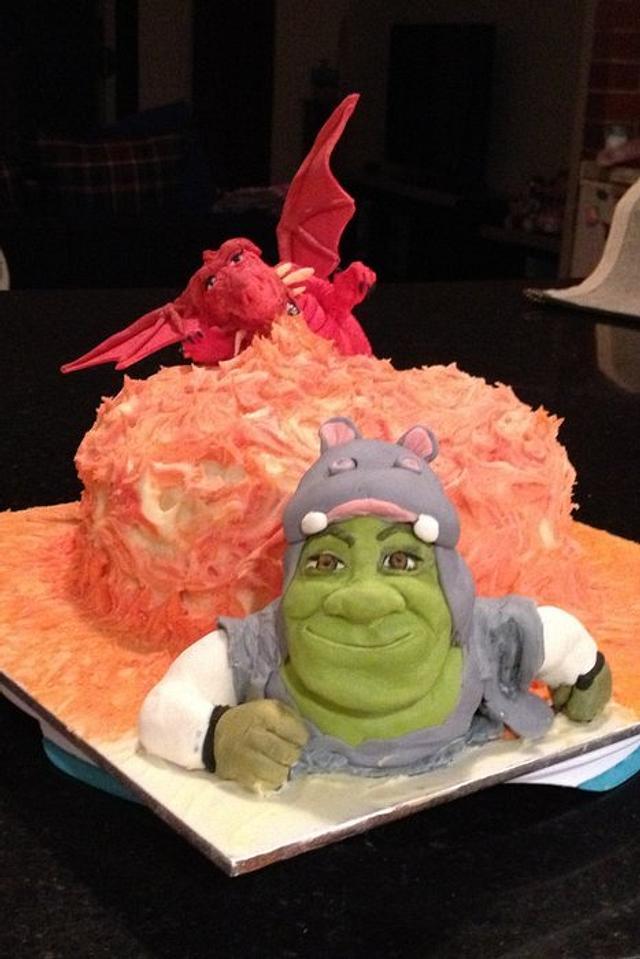 Surprising Shrek Birthday Cake Cake By Znique Creations Cakesdecor Funny Birthday Cards Online Elaedamsfinfo