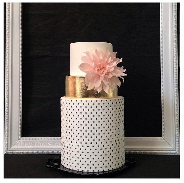 Wafer paper Dahlia & polka dots