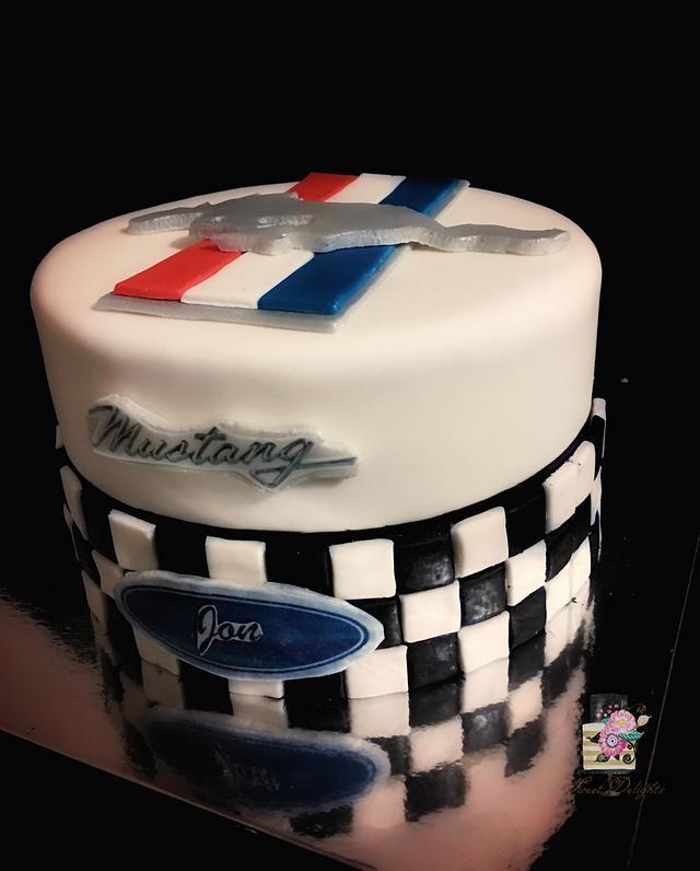 Mustang birthday cake