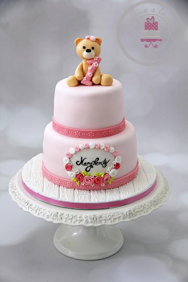 Christening + 1st Birthday Cake