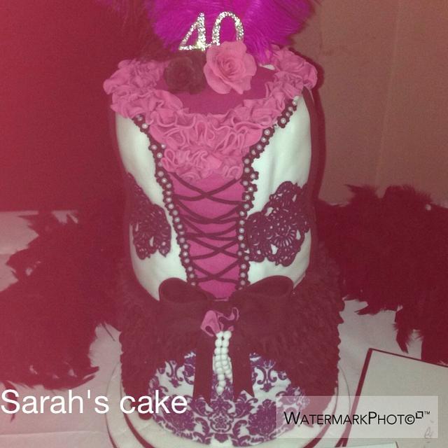 Burlesque themed cake
