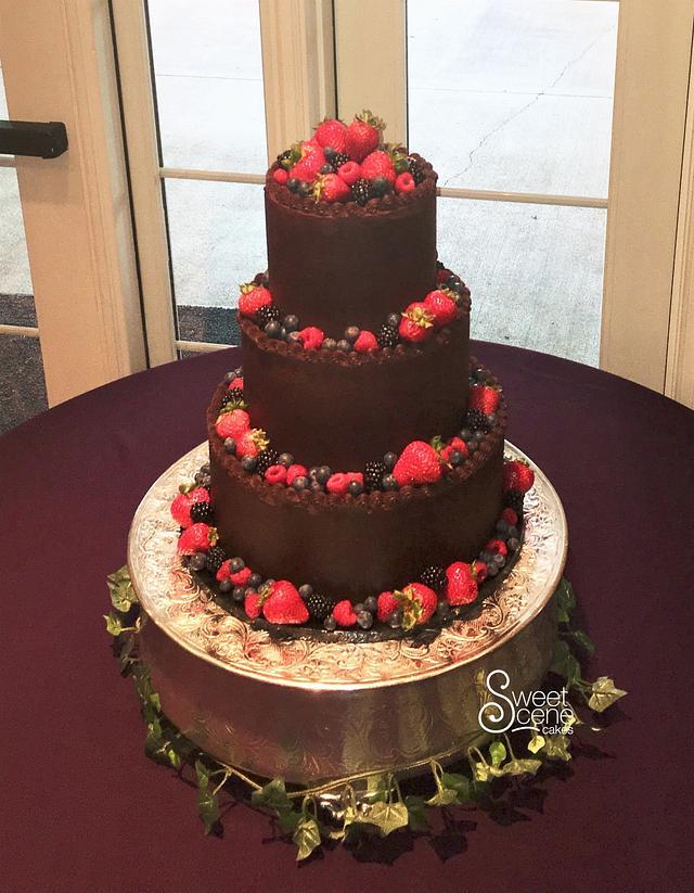 Ganache Wedding Cake