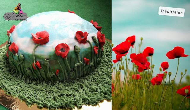 Buttercream Poppies Field