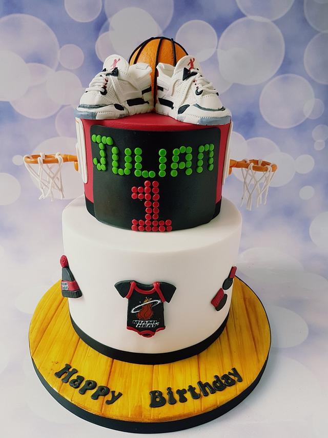 Wondrous Basketball Themed Birthday Cake Cake By Jenny Dowd Cakesdecor Funny Birthday Cards Online Benoljebrpdamsfinfo