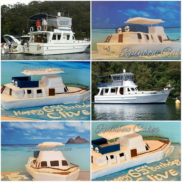 """Lady J"" the boat cake"