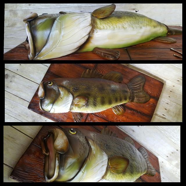 Bass fish groom's cake