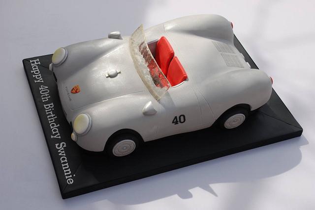 Porsche Spyder cake