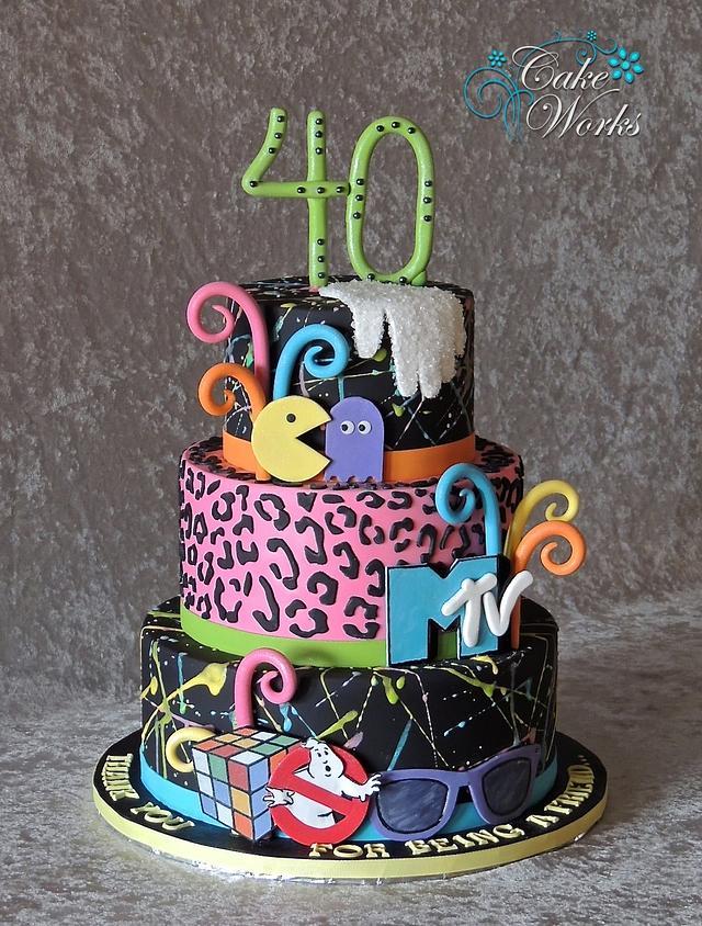 Magnificent Totally 80S Birthday Cake Cake By Alisa Seidling Cakesdecor Funny Birthday Cards Online Elaedamsfinfo