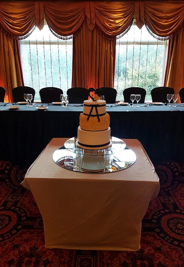 New Years Wedding Cake