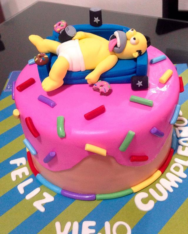 Marvelous Homer Simpson Birthday Cake By Nn Cakes Rodette De La Cakesdecor Funny Birthday Cards Online Sheoxdamsfinfo