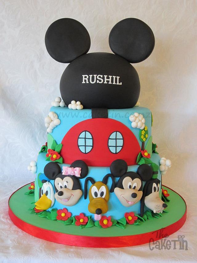 Tremendous Disney Themed First Birthday Cake Cake By The Cake Tin Cakesdecor Funny Birthday Cards Online Inifodamsfinfo