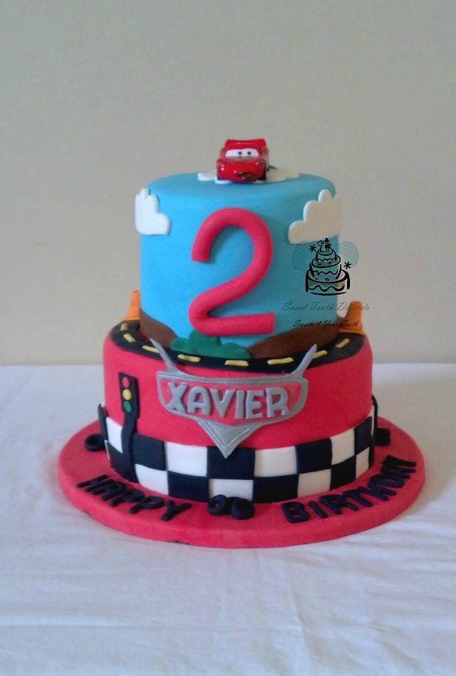 Prime Disney Pixar Cars 2 Tier Birthday Cake Cake By Carsedra Cakesdecor Birthday Cards Printable Nowaargucafe Filternl