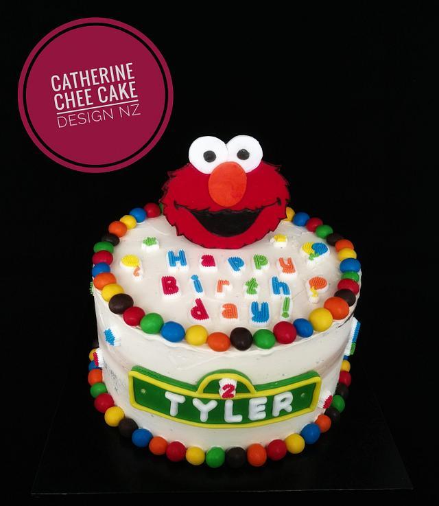 Superb Colourful Elmo Birthday Cake Cake By Catherine Chee Cakesdecor Funny Birthday Cards Online Inifodamsfinfo