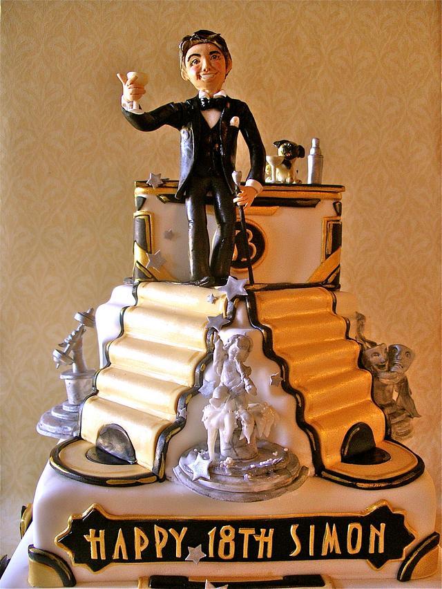 Great Gatsby style 18th birthday cake