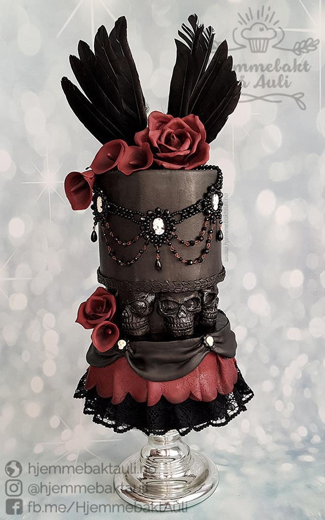 Fine My Gothic Birthday Cake Cake By Hjemmebakt Pa Auli Cakesdecor Funny Birthday Cards Online Inifofree Goldxyz