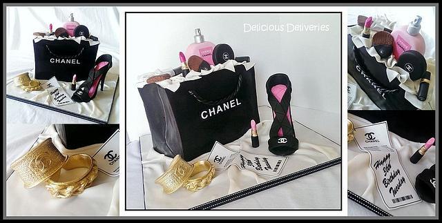 Chanel Giftbag Cake
