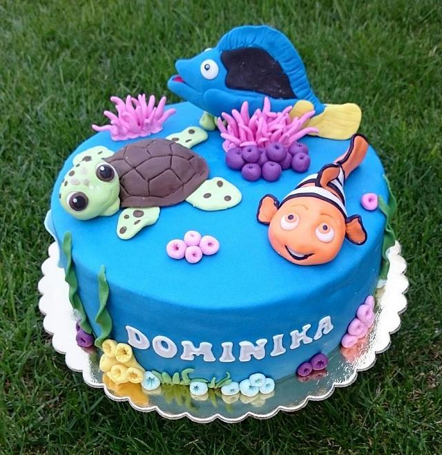 Incredible Nemo Birthday Cake Cake By Andycake Cakesdecor Funny Birthday Cards Online Drosicarndamsfinfo