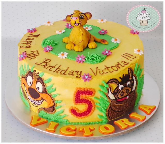 Peachy Simba Cake By Planet Cakes Cakesdecor Funny Birthday Cards Online Bapapcheapnameinfo