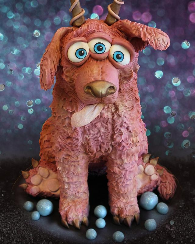 Caketastic ! Rose gold space dog !!