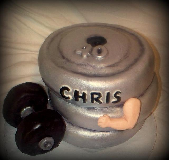 Weight Lifter's 40th Birthday Cake