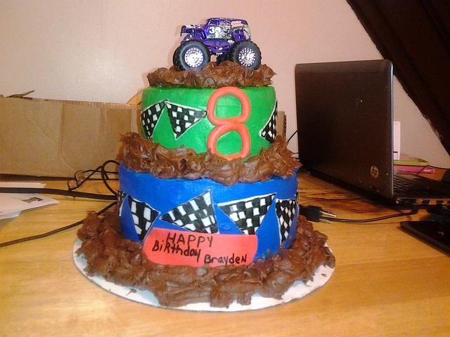 Strange Grave Digger Birthday Cake Cake By Sweettreatcakes Cakesdecor Funny Birthday Cards Online Necthendildamsfinfo