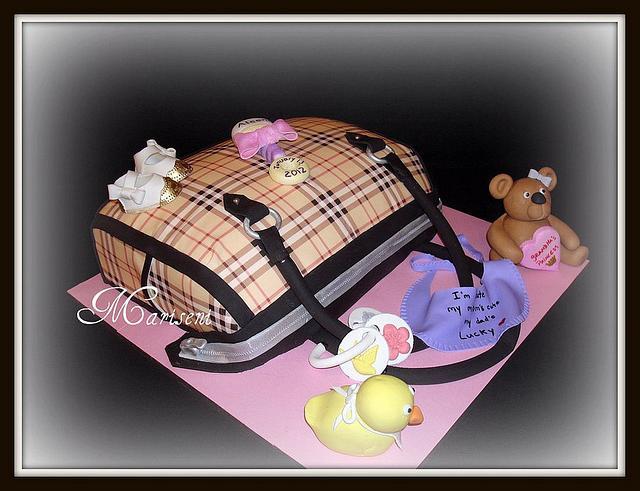 Burberry Diaper Bag Cake