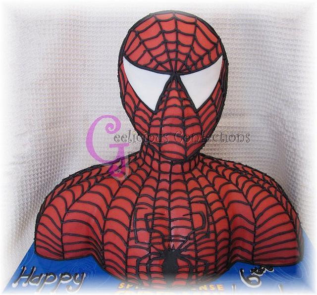 Spiderman Torso Cake