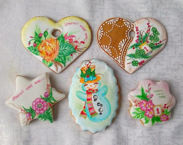 Hand painted gingerbread