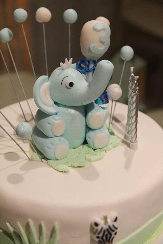 The Little Blue Elephant Cake