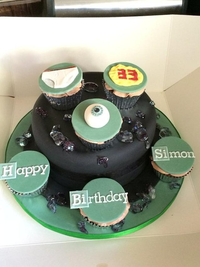 Awe Inspiring Breaking Bad Birthday Cake Cupcakes Cake By The One Cakesdecor Funny Birthday Cards Online Overcheapnameinfo