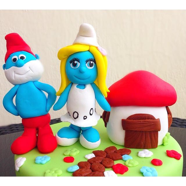 Smurfs Cake:)