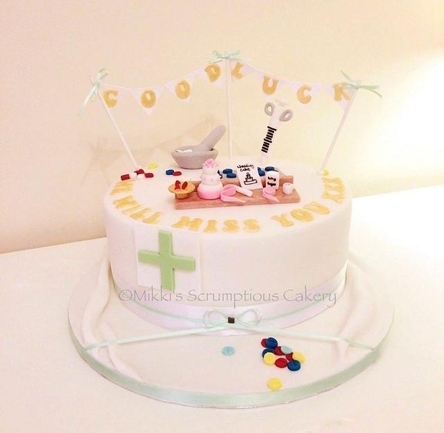 Farewell for a cake making Pharmacist