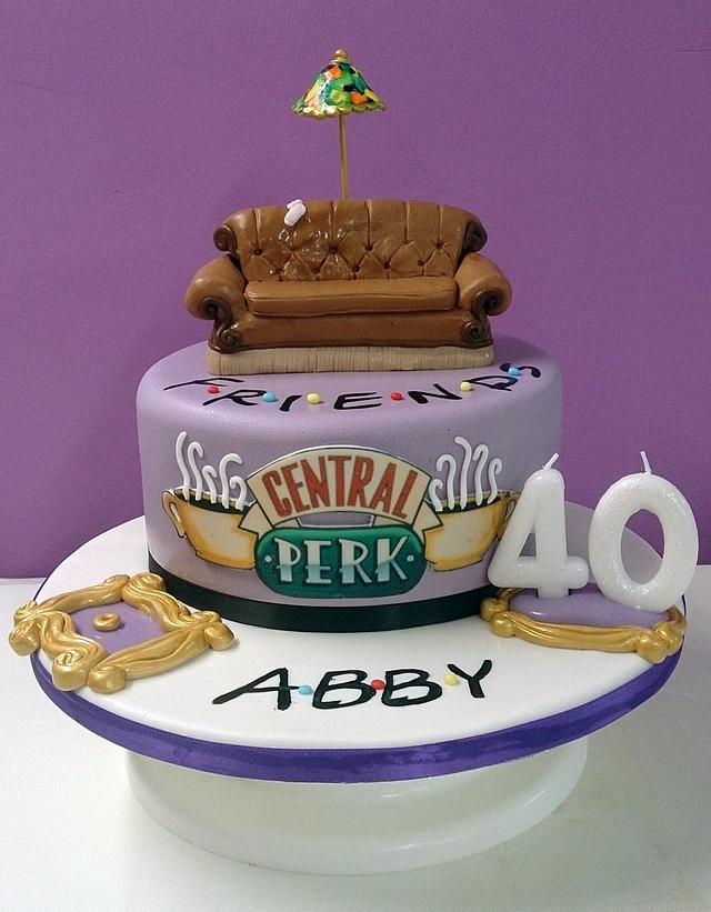 Friends theme cake