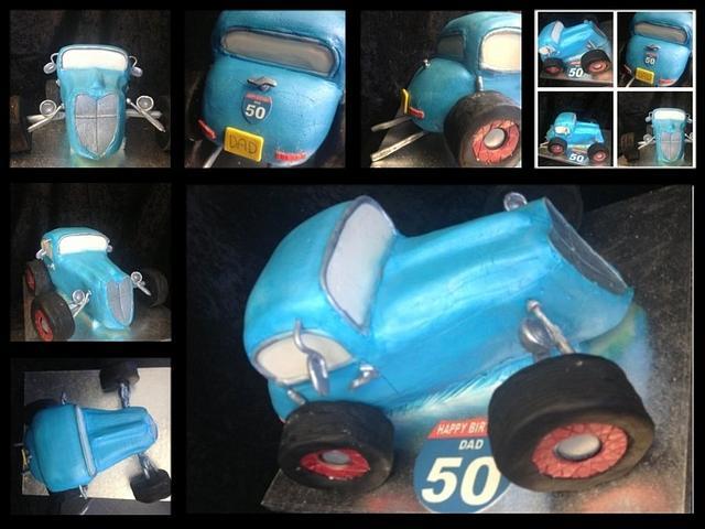 50th HotRod cake