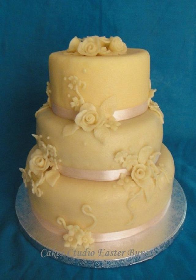 Marzipan wedding cake