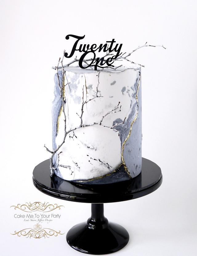 Winter 21st Cake