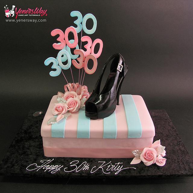 Peachy Shoe Birthday Cake Cake By Serdar Yener Yeners Way Cakesdecor Funny Birthday Cards Online Necthendildamsfinfo