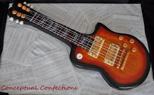 Gibson Guitar Cake
