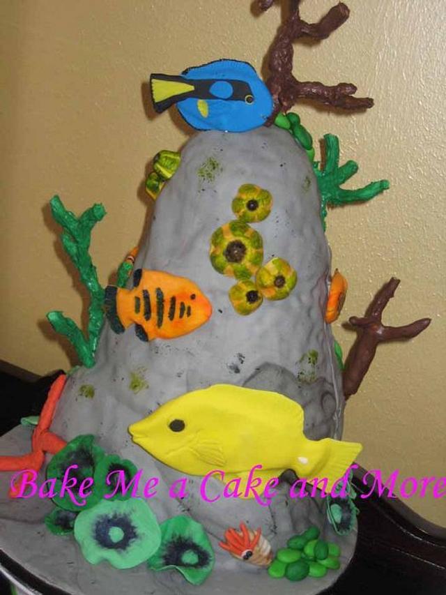 Underwater themed Grooms Cake