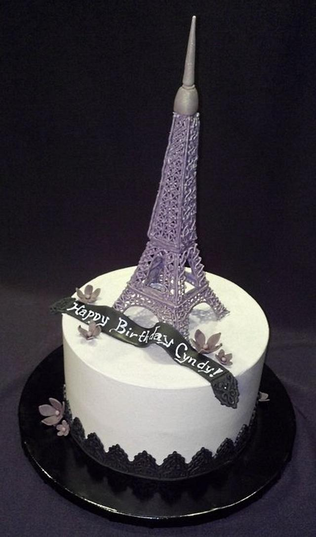 Excellent Eiffel Tower Cake Cake By Janan Cakesdecor Funny Birthday Cards Online Aeocydamsfinfo