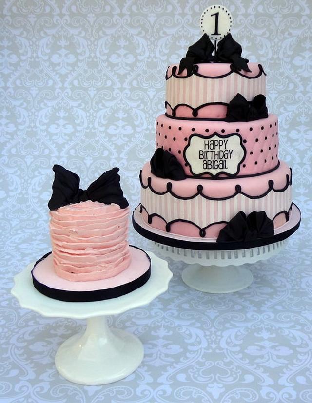 Fine Parisian Bow Birthday Cake Cake By Lindsey Krist Cakesdecor Personalised Birthday Cards Epsylily Jamesorg
