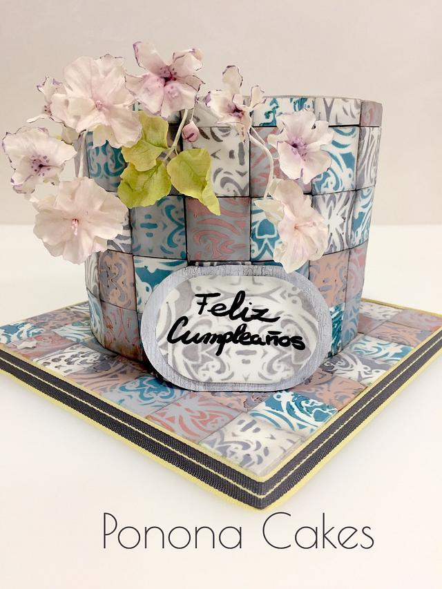 Tiles cake
