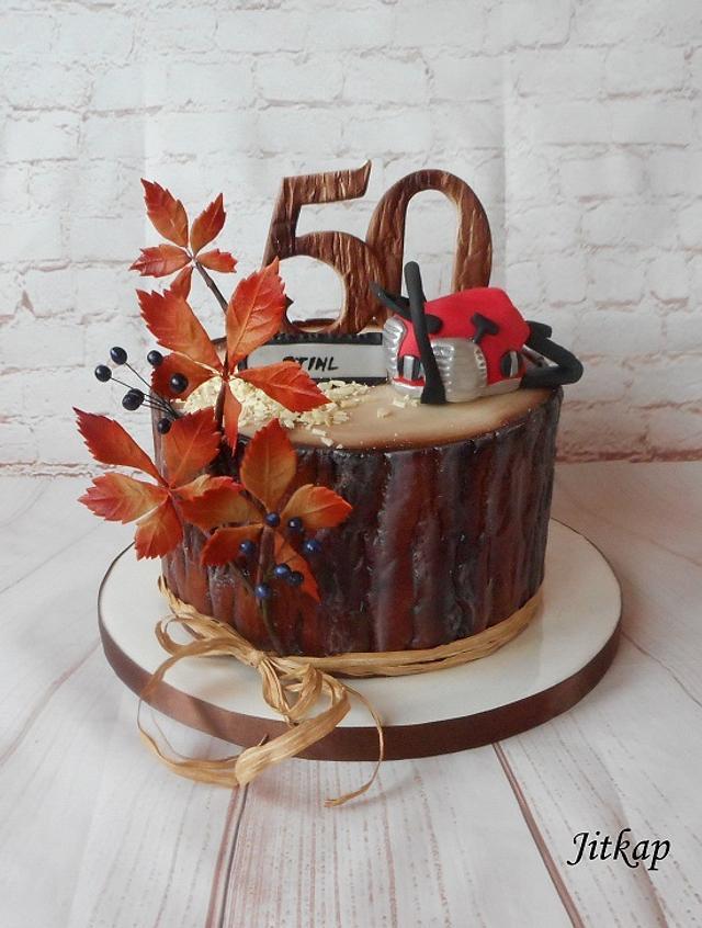 Birthday cake stump