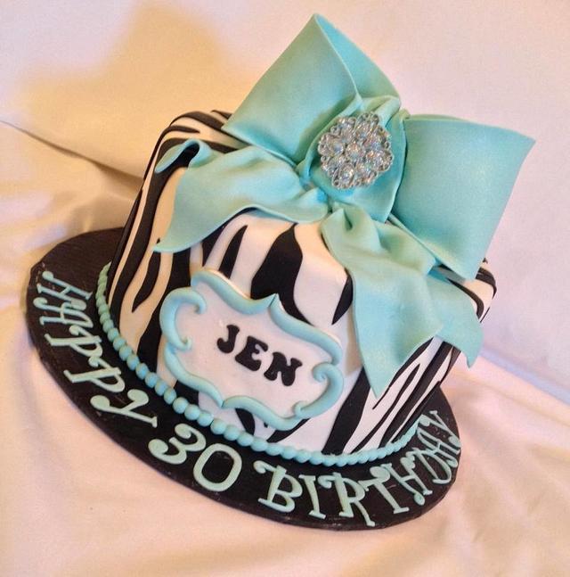 Hello Beautiful: Fashion Zebra strips with Tiffany blue