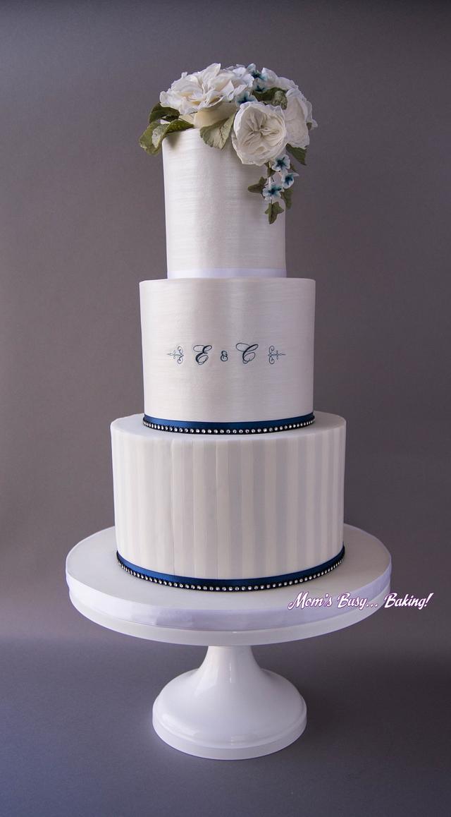 Navy, white wedding