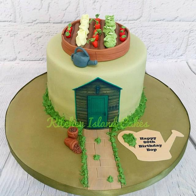 Miraculous Veggie Patch Cake By Kitchen Island Cakes Cakesdecor Funny Birthday Cards Online Elaedamsfinfo