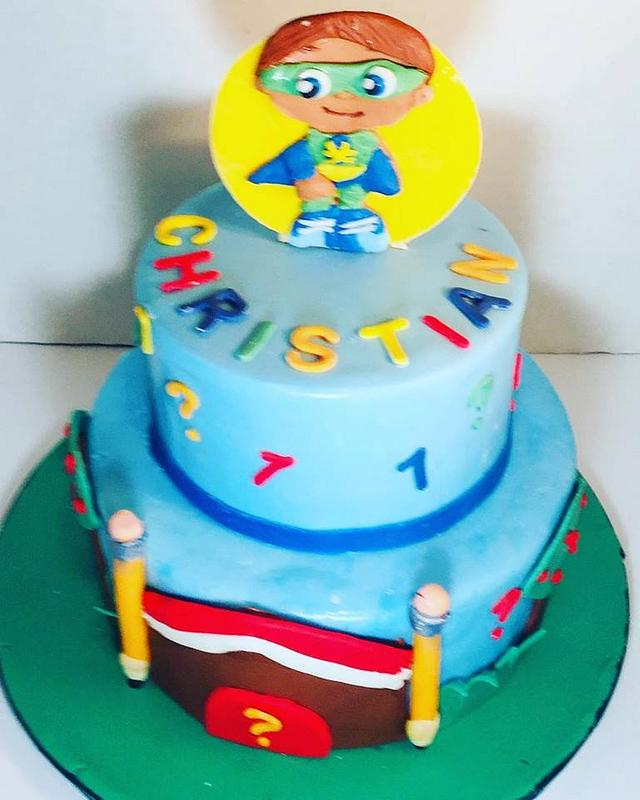 Terrific Super Why Two Tiered Cake Cake By Givethemcake Cakesdecor Funny Birthday Cards Online Elaedamsfinfo