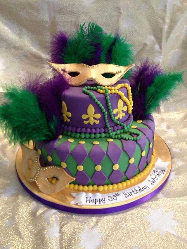 Astonishing Mardi Gras Cake Cake By Emmas Cakes Cakes For All Cakesdecor Funny Birthday Cards Online Alyptdamsfinfo