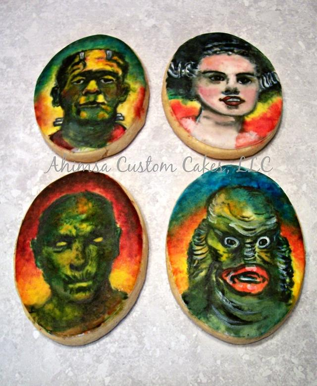 Classic Monsters ~ hand painted cookies