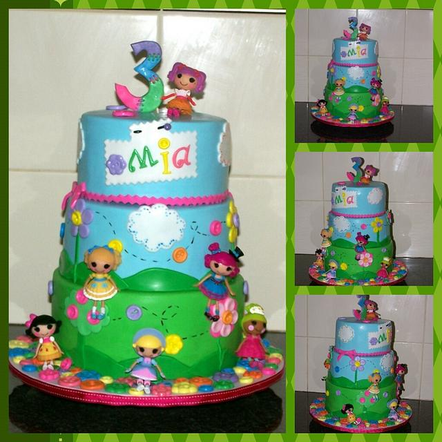 Awe Inspiring Lalaloopsy Birthday Cake Cake By The Custom Piece Of Cakesdecor Personalised Birthday Cards Rectzonderlifede